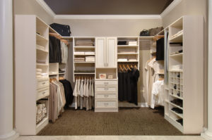 clean closet with no clothes pile